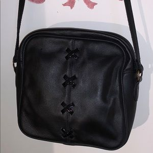 Leather purse 9  inches long & 9 width